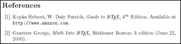LaTeX: Bibliographies and Citation
